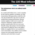 Arunachalam Muruganantham Time Magazine List
