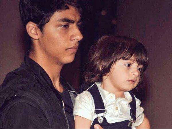 Aryan Khan with AbRam Khan
