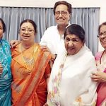 Asha Bhosle (Left) with her siblings