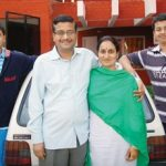Ashok Khemka With His Wife Jyoti Khemka and his Sons Srinath & Ganesh
