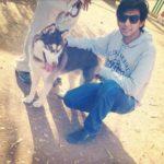 Ashrut Jain, a dog lover