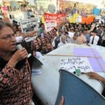 Asma Jahangir Protesting For Women Rights