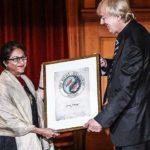 Asma Jahangir Receiving The Right Livelihood Award