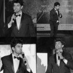 Avinash Mishra hosting an event