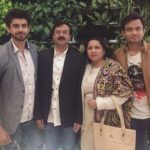 Avinash Mishra with his parents and brother