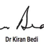 Signature of Kiran Bedi