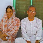 Baba Neem Karoli's Daughter Giraja And Her Husband Jagadish Bhatele At Vrindavan Ashram