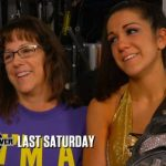 Bayley with her mother