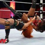 Becky Lynch Pumphandle Side Slam finisher