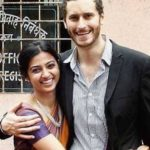 Benedict Taylor with his wife Radhika Apte