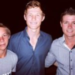 Cameron Bancroft with his brothers Hayden Bancroft (Right) and Justin Bancroft (Left)
