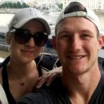 Cameron Bancroft with his wife Caity Paris