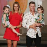 Candice Warner with her husband and children