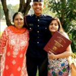 Captain Kapil Kundu with his mother and sister