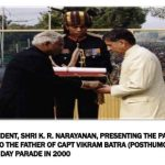 Captain Vikram Batra Father Receiving Param Vir Chakra