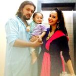 Chahat Khanna with her husband Farhan Mirza and daughter Zohar Mirza