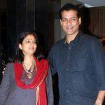 Chetan Pandit with wife