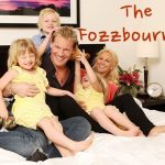 Chris Jericho with his wife and children