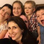 Claudia Ciesla with her sister, nephews and niece