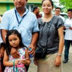 Conrad Sangma with his wife and daughter