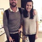 Daniel Christian with his wife Deanna Atsalas