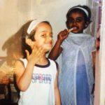 Devisha Shetty childhood pic with her sister