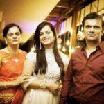 Devisha Shetty with her parents