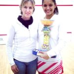 Dipika Pallikal with Sarah Fitz-Gerald