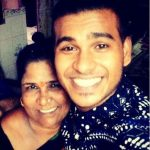 Durgesh Karlad with his mother