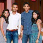 Dushmantha Chameera's Brother Lassanai Dassa And His Girlfriend Madavi (L), Dushmantha Chameera And His Wife Dilrukshi (R)