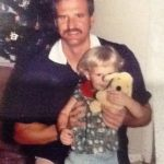 Erin Holland childhood photo with her father