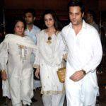 Fardeen Khan with his mother and sister Laila