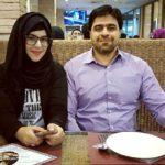 Farha Fatima Khan with her father