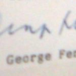 George Fernandes Signature