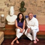 Gulzar With His Daughter Meghna