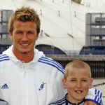 Harry Kane with David Beckham