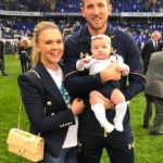 Harry Kane with his fiance Katie Goodland and Daughter Ivy