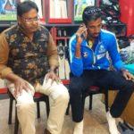 Ishan Porel with his coach Bibhas Das