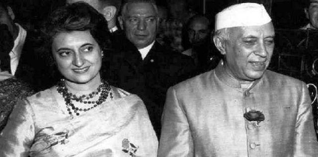 Jawaharlal NehruWith Indira Gandhi
