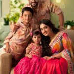 Jayasurya With His Son, Wife and Daughter