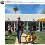 Jeff Bezos With His Robotic Dog