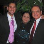 Jeffrey Iqbal with his parents