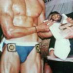 Jimmy Sharma as a bodybuilder