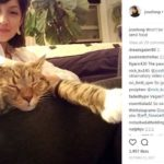 Joss Fong With Her Cat Karl