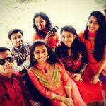 Jui Gadkari with her cousin siblings