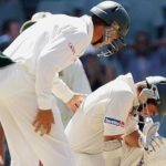 Justin Langer Is Helped by Jacques Rudolph After Being Struck In The Head By A Delivery In 2006https://130513-375933-1-raikfcquaxqncofqfm.stackpathdns.com/wp-content/uploads/2018/05/Justin-Langer-Scored-102-Before-Retiring-Hurt-After-He-was-Strucked-On-The-Helmet-By-Andrew-Caddicks-Bouncer.jpg