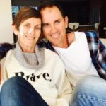 Justin Langer With His Mother