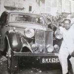 K L Saigal Car M G Saloon and his Manager Paul