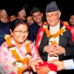 K P Sharma Oli With His Wife Radhika Shakya