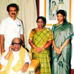 Kanimozhi (Standing Extreme Right) With Her Parents And Brother M K Stalin (Standing Extreme Left)